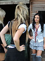 Secretaries in High Heels Kayleigh Williams and  Naked Schoolgirls in April 2011