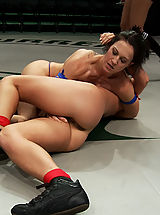Famous Lesbians, Sexual Wrestling 2 strong fitness models battle in brutal non-scripted wrestingLoser gets double ass fucked hard!