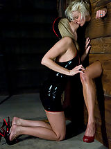 A CLASSIC FAVORITE: Vendetta in the Wall!!!  Maitresse Madeline's 1st shoot EVER for !